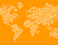 [Free] Dotted World Map Vector Design Template