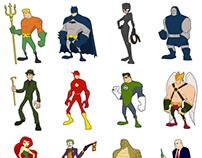 DC comics alphabet series