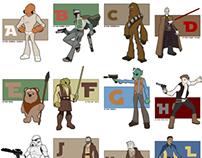 Star Wars Alphabet project