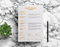 Free Super Minimalist Resume Template