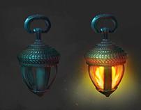 Fantasy lanterns and basket