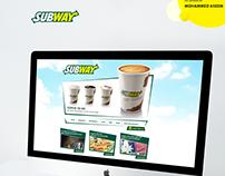 SUBWAY Website Redesign Concepts.