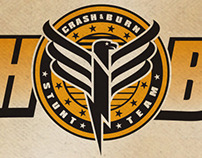 CRASH & BURN TV show logo design