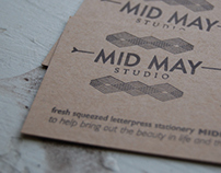 Letterpress Business Card and Logo
