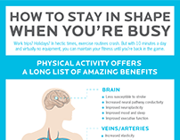 Infographic. How to stay in shape when you're busy