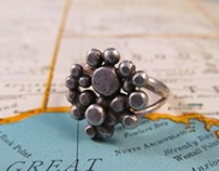 Recycled Silver Dots Ring