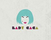 Typographic Lady Gaga Book