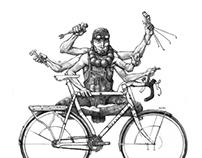 Bicycle-Times & Dirt Rag Magazine Illustrations