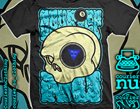 Magic 8-Skull tee design for Courier_Nu Clothing