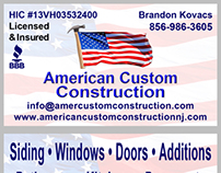 American Custom Construction, LLC Website Redesign