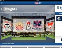 AFL iPad video client app