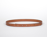 THREE STUDS BELT / Handmade in France