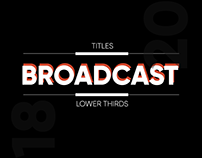 Broadcast titles and lower thirds pack