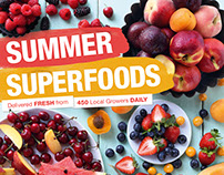 Summer Fruit & Veg Retail Leaflet & Posters
