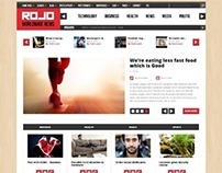 Rojo, Wordpress Responsive Magazine Blog Theme