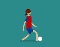 El Futbol Player With His Ball