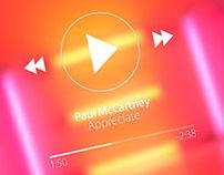 Diseño Gráfico   App Music