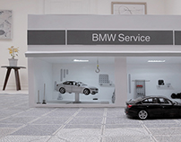 One take stop motion commercial for BMW