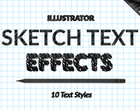 Illustrator Sketch Text Effects