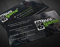 Game shop bussiness card
