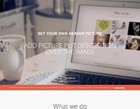 Gavick Creativity, Wordpress One Page Portfolio Theme