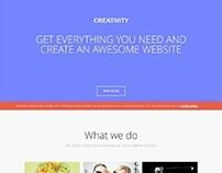 Gavick Creativity, Joomla Retina Parallax One Page Temp