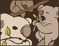 Crunching Koalas - studio visual identity