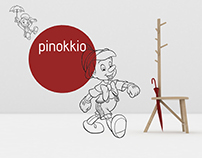 Pinokkio - chair+coat hanger+umbrella stand