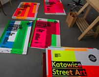 Katowice Street Art Festival – silkscreen poster series