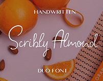 Scribly Almond Duo Font