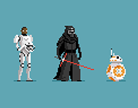 The Force Awakens in pixels