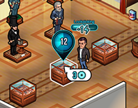 Heist - Facebook game UI and isometric assets