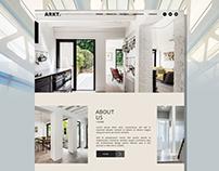 ARK - Architecture Landing Page Design