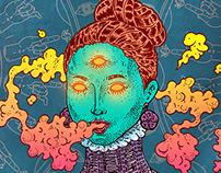 「涅槃吸吐者」插畫, 設計 | Nirvana Vapor