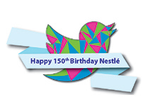 Happy 150th Birthday Nestlé with Twitter
