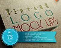 Vintage Logo Mock Ups Pack