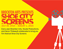 Brockton Arts - SHOE CITY SCREENS Flyer & Poster