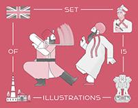 Khatri Society (set of 15 illustrations)