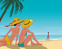 On the beach in Cuba