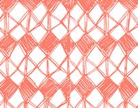 Diamond-shaped pattern