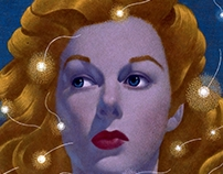 Art Work :: hollywood movie stars woman portrait