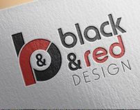 Black & Red Design Logo Tasarımı