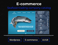 Seafood and fish website design