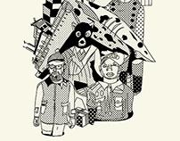 Tee-shirt inspiré par Wes Anderson