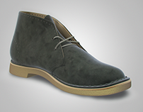 Clarks Desert Botts - 3D model
