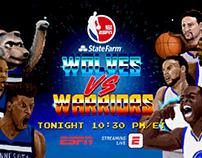 ESPN - 16BIT WARRIORS VS. WOLVES