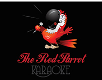 The Red Parrot Karaoke Logo Template