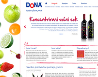 Website for DoNA Beverages and Food