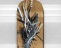3d Graffiti Skateboard deck
