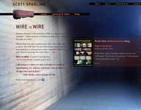 Website for Scott Sparling, author of Wire to Wire